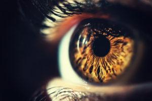 Close up of eye pupil