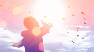Man embracing the heavens